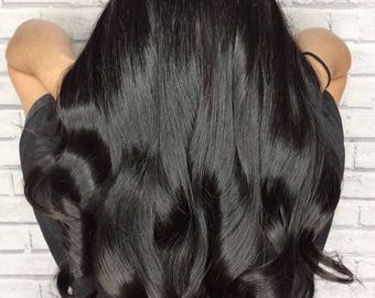 100% Premium Quality Remy Human Hair Clip in Extensions Full Head of Extensions 200 Grams Full Hair Extensions Voluminous Hair Extensions