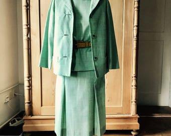 1950s 3 piece pistachio suit