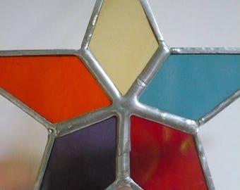 hanging star Christmas glass