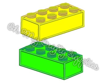Building Bricks Applique Design