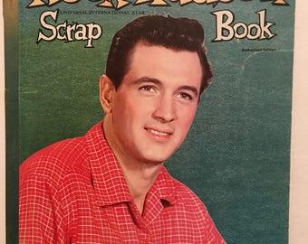 Rock Hudson Scrapbook Whitman Publishing Midcentury Vintage Scrapbook Hollywood Ephemera