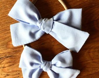 Sloane bow || Chambray