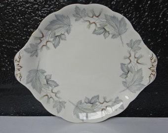 "Royal Albert Fine Bone China ""Silver Maple"" Cake Plate/Plate/Dessert Plate/Sandwich Plate/Royal Albert China/Afternoon Tea/Vintage/1960s"