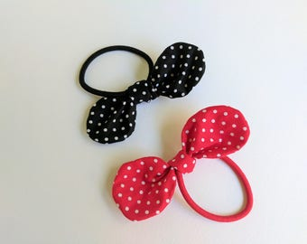 Polka Dot Knotted Hair Bow