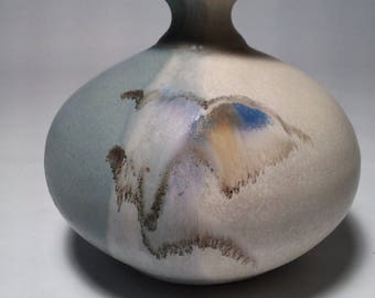 Follette Studio Art Pottery USA Handcrafted Stoneware Bud Vase Weed Pot Signed
