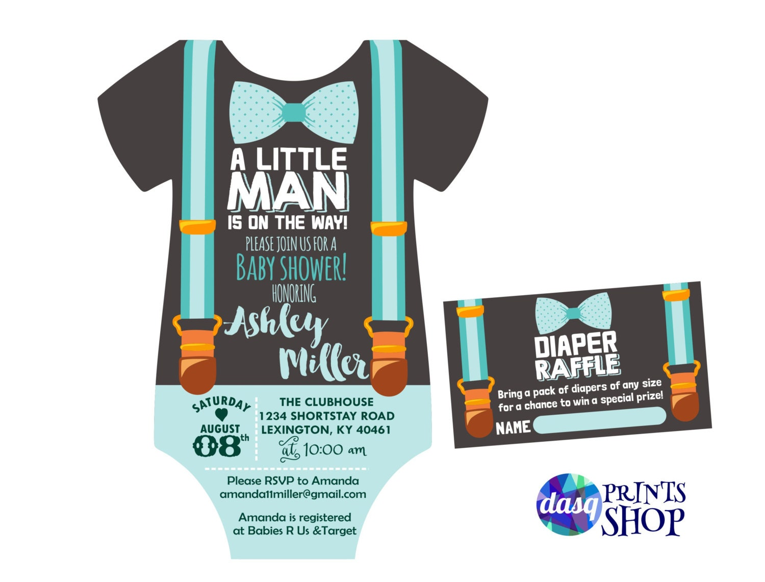 Little man baby shower invitation onesie invitation shower zoom pronofoot35fo Image collections