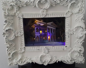 Haunted Mansion - LIGHTED - Haunted Mansion Collection, 3-D, Shadowbox, handcrafted, original,