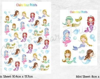 MERMAID Planner Stickers (2 options)
