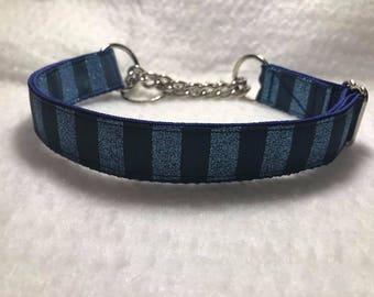 Blue Sparkles Martingale Dog Collar