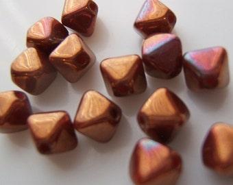 25 - Yummy Cinnamon Spice Czech Glass Bi-cones