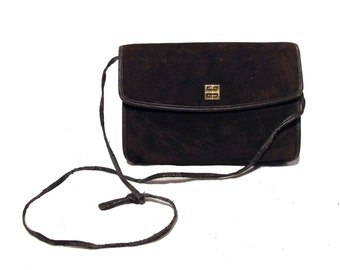 1970s Givenchy Brown Suede Shoulder Bag