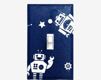 Robot light switch cover for Boys bedroom / Robot Nursery decor