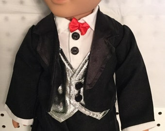 "Doll clothes that fit 18"" like the american girl black tux#1"