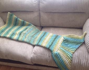 Mermaid tail blanket (cocoon shaped)