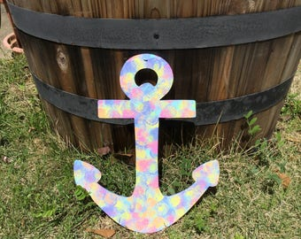 Rainbow Anchor Wall Art