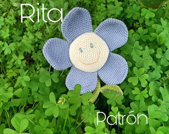 Pattern crochet Flower, Pattern amigurumi Flower, Flower crochet pattern, Flower amigurumi pattern, Flower Rita