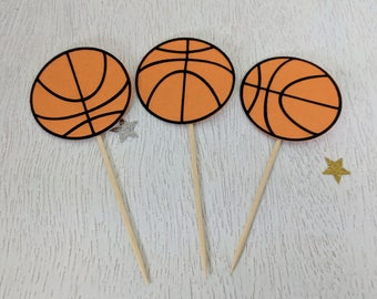 Basketball Cupcake Toppers, Basketball Birthday Party, Sports Party