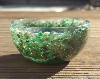 "GREEN JADE 2"" Orgone Bowl"