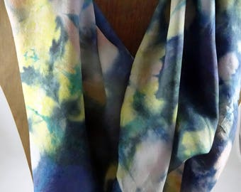 Hand Painted Silk Scarf #402 FREE SHIPPING