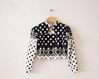 Vintage crop southwestern jacket / navajo jacket / short jacket