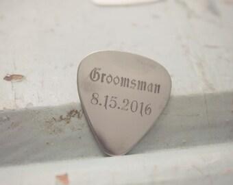 Custom Guitar Picks, Best Man Guitar Pic, Groomsmen Guitar Pick, Wedding Memento Gift