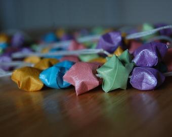 Multicolored Lucky Stars Origami Garland