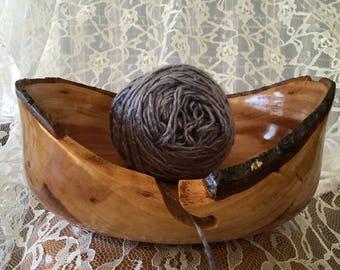Yarn bowl, wood yarn bowl, wood bowl, bowl