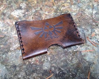 Leather Zelda card case