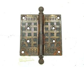 Vintage Large Aestetic Hinge - Aesthetic Hardware -5 Inch Eastlake Hinge - Large Hinge - 5 Inch Hinge - Victorian Hardware