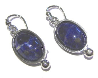 sodalite earrings silver 925%