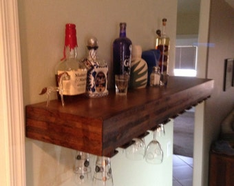 floating wine glass shelf floating wine shelf etsy 7241