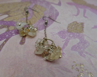 Citrine Cluster Silver Dangle & Sway-Lainey