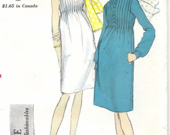 60s Vogue 6657 One-Piece Dress and Scarf Sewing Pattern UNCUT