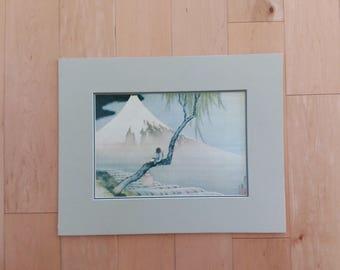 Boy and Mount Fuji - Print of Japanese Painting, Edo Period Ukiyoe School, Katsushika Hokusai (1760-1840) - Freer Gallery -Washington DC