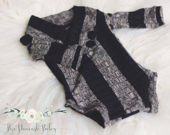 Newborn Boy Romper, Newborn Black Outfit, Newborn Photo Props, Photography Props, Newborn Boy Outfit, Newborn Neutral Outfit, Black Gray