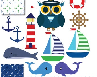 Nautical clip art, boat clipart, whale clipart, anchor pictures, sailboat clipart, anchor clipart, lighthouse clipart, nautical art