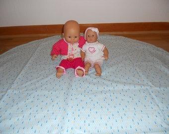 Play mat / backpack bag big nomadic pattern for baby & child reversible