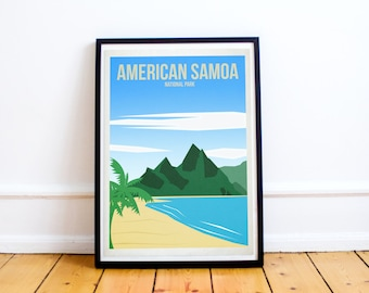 American Samoa National Park - US National Parks - Art Print - (Available In Many Sizes)