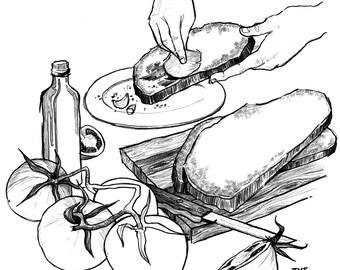 Day 7 Print: Pa amb tomaquet