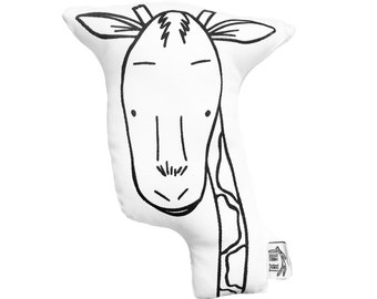 Gus the Giraffe Soft Toy Pillow by The Wild - Stuffed Toy, Plushie, Stuffed Animal, Baby Toy, Giraffe Plush, Baby Stuffed Toy, Safari