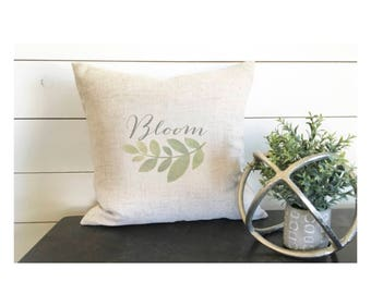 Bloom Pillow Cover 18 x 18 , Spring Pillow Cover, Spring Pillow Decor, Gift, Bloom Decor