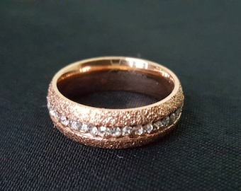 Spike's Stainless Steel Wedding Band Ring