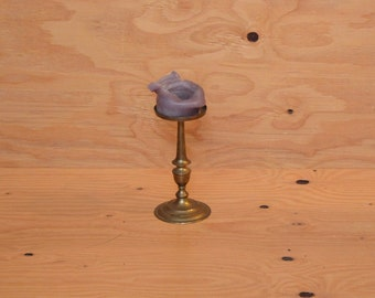 Vintage Mid Century Gold Brass Candle Holder