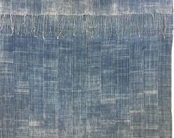 Large African Mud Cloth, Stunning textile! Plus fringe at both ends, Bogolan, indigo mud cloth