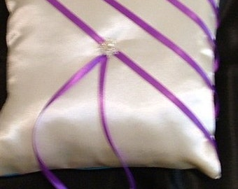 custom made white ring bearer pillow