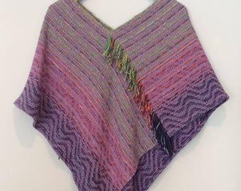 1980s Woven Cotton Poncho