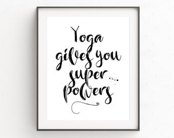Yoga Wall Art, Yoga Poster, Yoga Wall Posters, Yoga Art For Gift, Yoga Decor Bedroom, Yoga Poster Print, Yoga Art For Home, Printable Art