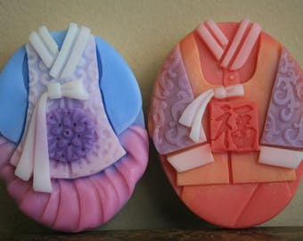 Korean traditional 'Hanbok' Couple soap