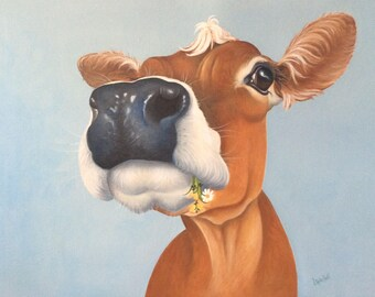 ORIGINAL jersey cow painting