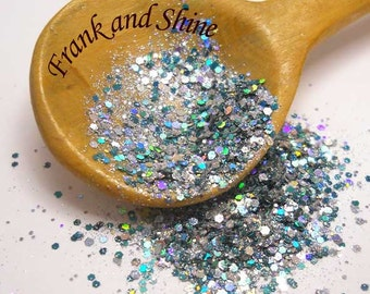 Twinkle Green Solvent Resistant Holo Glitter Mix